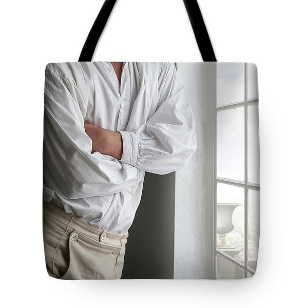 Man In Historical Shirt And Breeches Tote Bag by Lee Avison