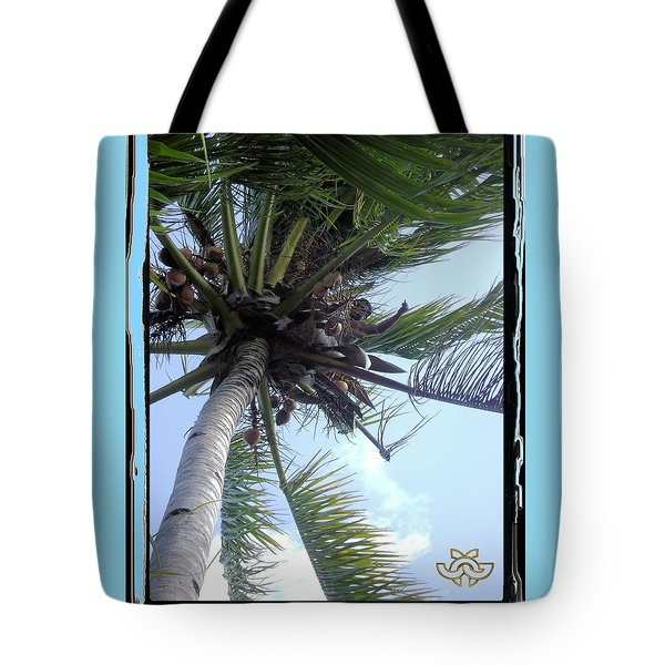 Man In Palm Tree Tote Bag