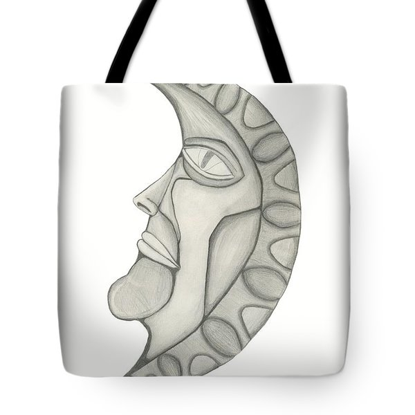 Man In The Moon Tote Bag by Sara Stevenson