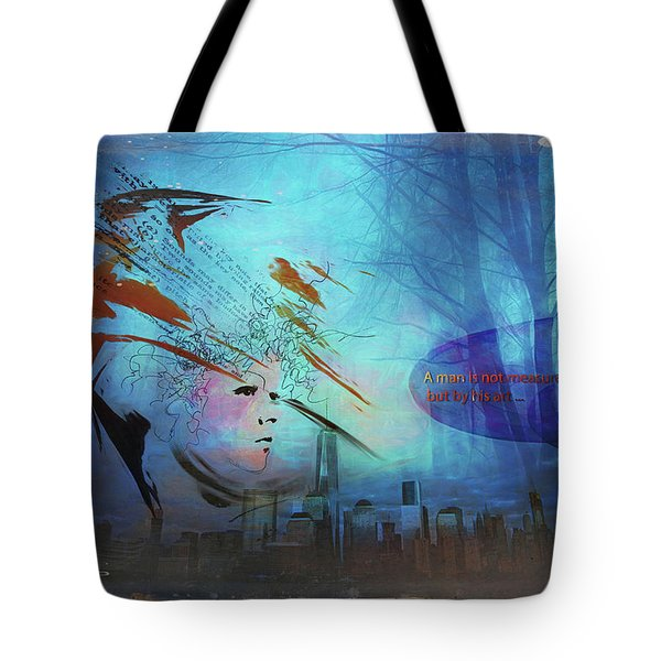 Man Is Art Tote Bag