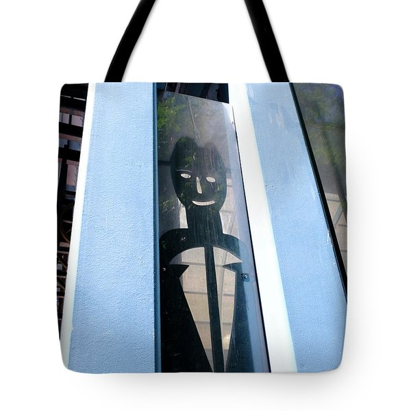 Man Looking At You Through A Window In Seattle Washington Tote Bag
