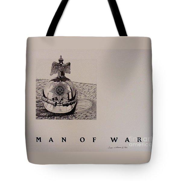 Man Of War Tote Bag by Susan Williams