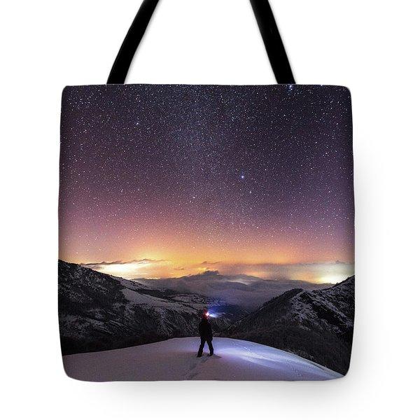 Man On Mars Tote Bag by Evgeni Dinev