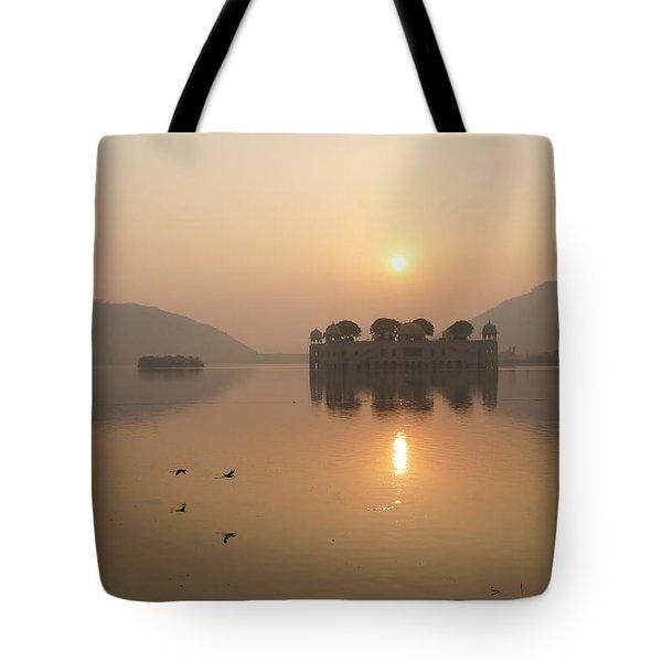 Man Sagar Lake Tote Bag