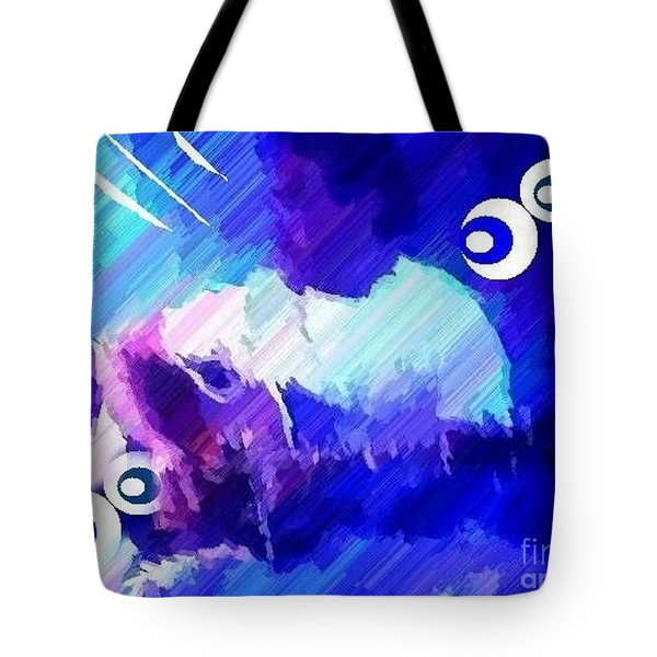 Man With A Guitar Tote Bag