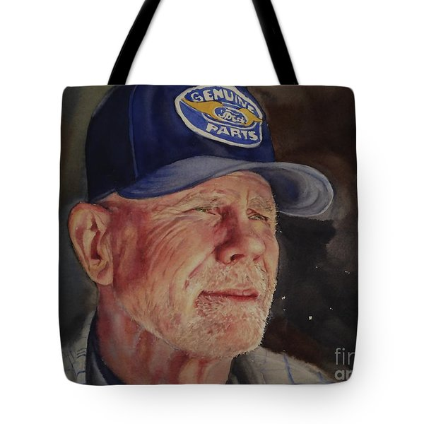 Man With Ford Cap Tote Bag