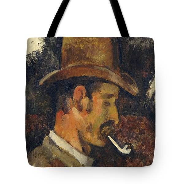 Man With Pipe Tote Bag