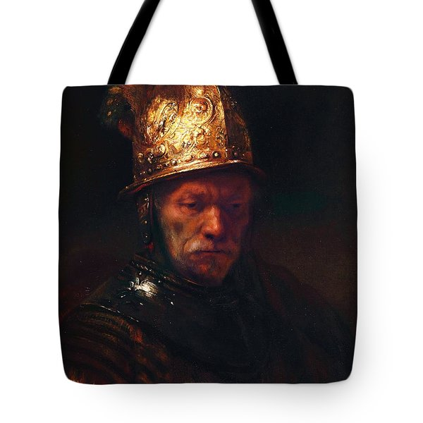 Man With The Golden Helmet Tote Bag by Pg Reproductions