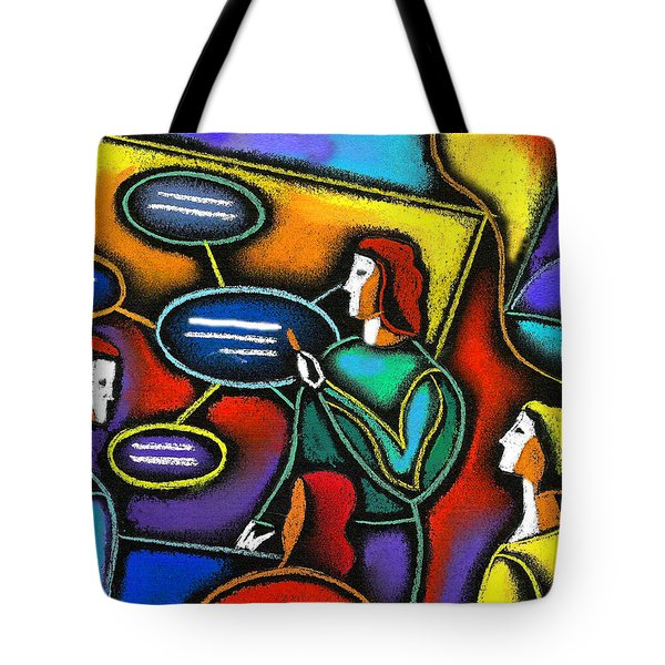 Tote Bag featuring the painting Manager  by Leon Zernitsky