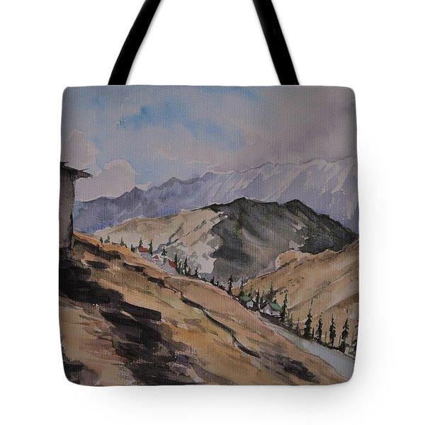 Manali Scene Tote Bag
