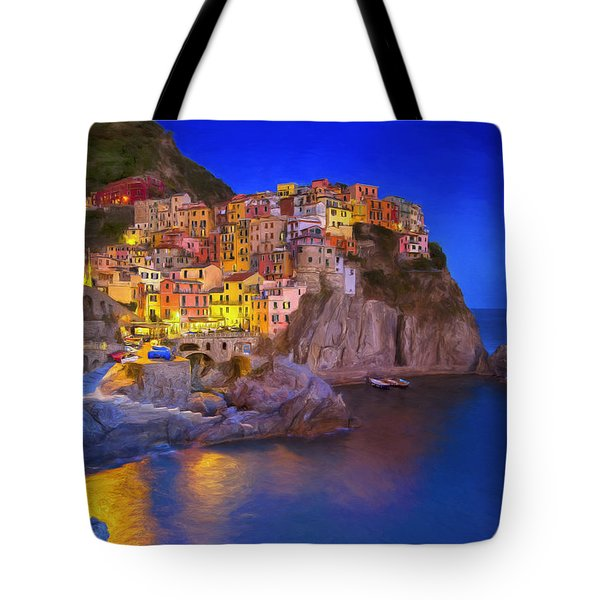 Manarola By Moonlight Tote Bag