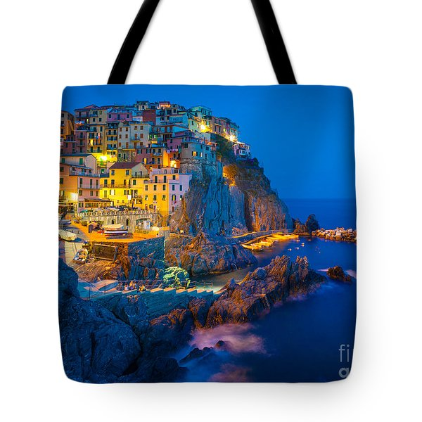 Manarola By Night Tote Bag