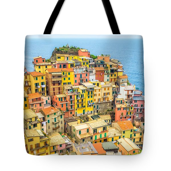 Manarola Cinque Terra City Tote Bag