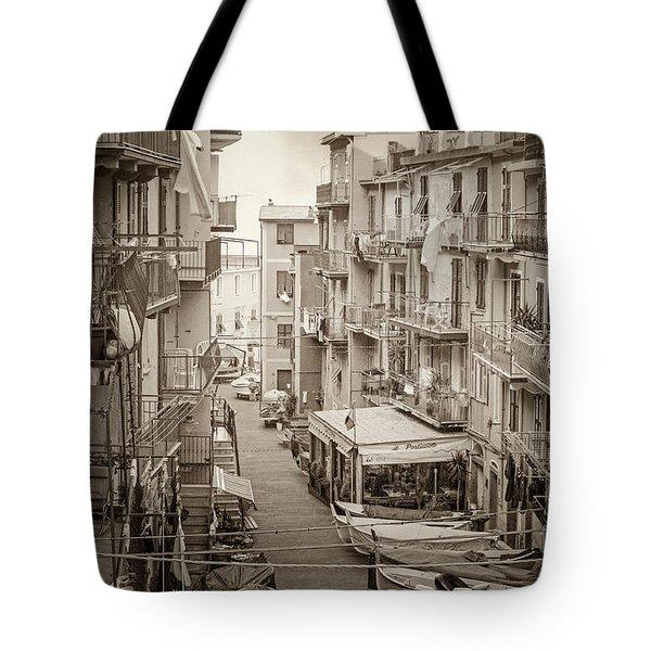 Manarola In Sepia Tote Bag