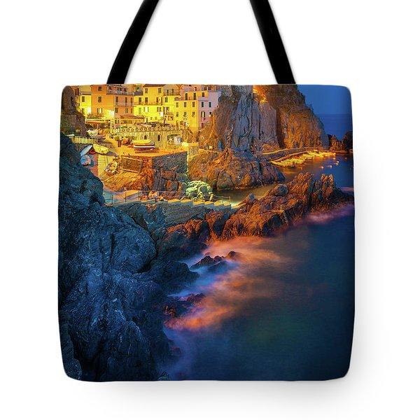 Manarola Lights Tote Bag by Inge Johnsson