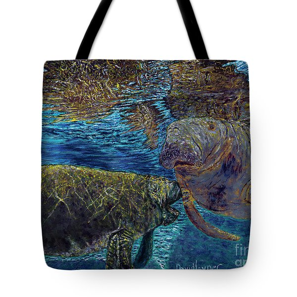 Manatee Motherhood Tote Bag by David Joyner