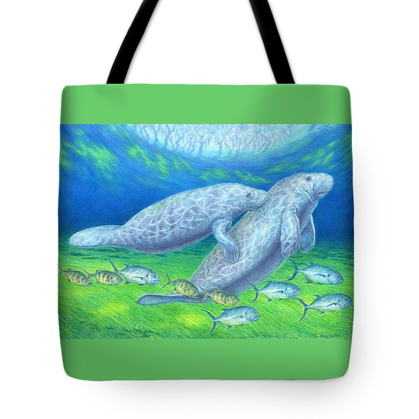 Manatee Spring Tote Bag by Tim McCarthy