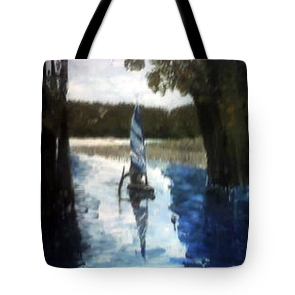 Manatee Springs Tote Bag by Connie Morrison