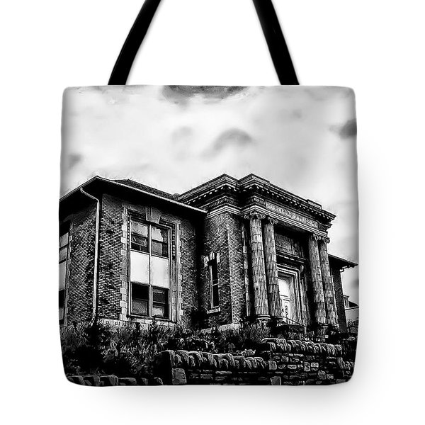 Manayunk Branch Of The Free Library Of Philadelphia Tote Bag by Bill Cannon