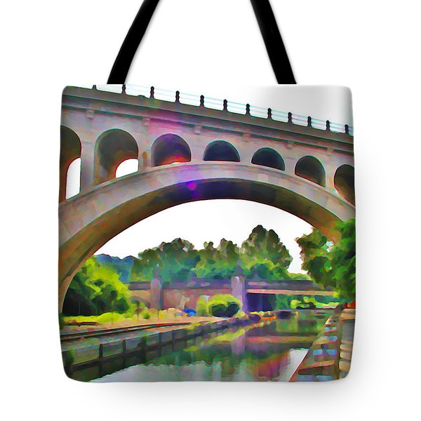 Manayunk Canal Tote Bag by Bill Cannon