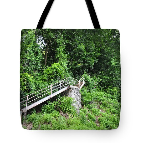 Manayunk - Steps From The Wissahickon Train Station Tote Bag by Bill Cannon