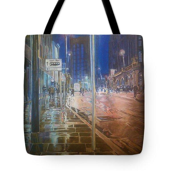 Manchester At Night Tote Bag