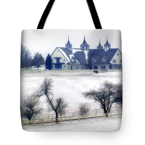 Manchester Farm In Winter Tote Bag