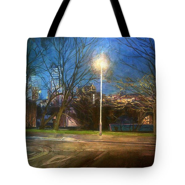 Manchester Street With Light And Trees Tote Bag