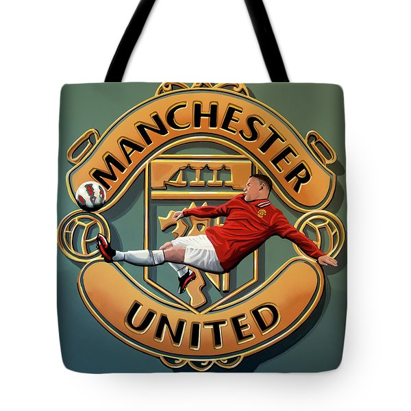Manchester United Painting Tote Bag