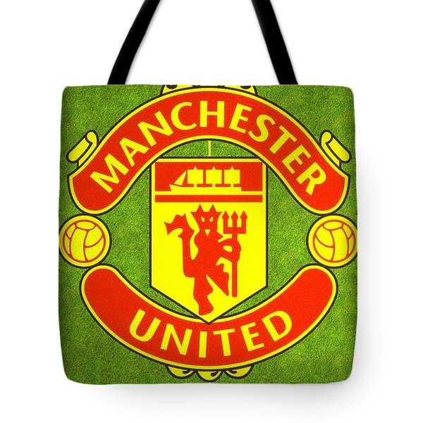 Manchester United Theater Of Dreams Large Canvas Art, Canvas Print, Large Art, Large Wall Decor Tote Bag by David Millenheft