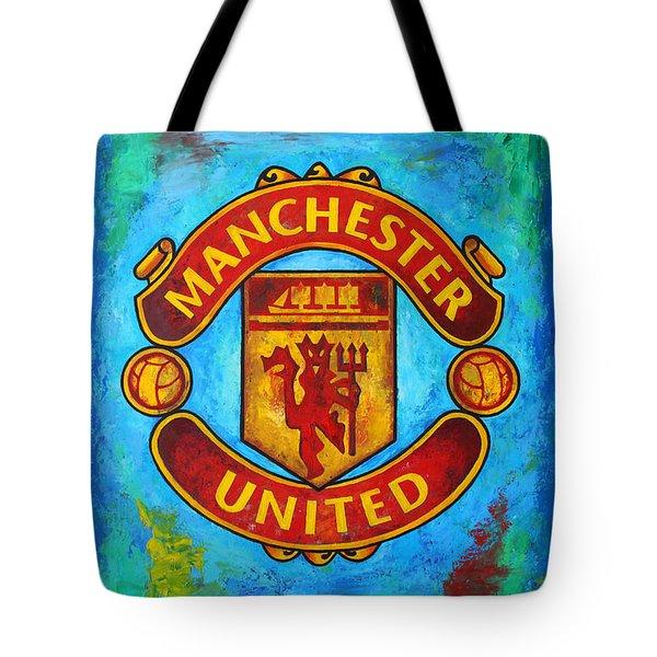 Manchester United Vintage Tote Bag by Dan Haraga