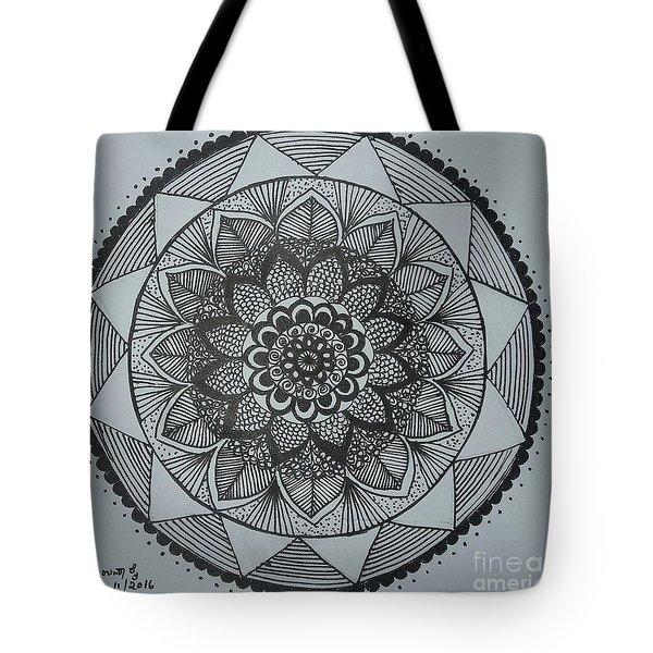 Mandal Tote Bag by Usha Rai