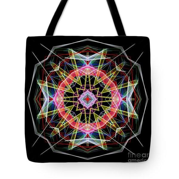 Tote Bag featuring the digital art Mandala 3313 by Rafael Salazar