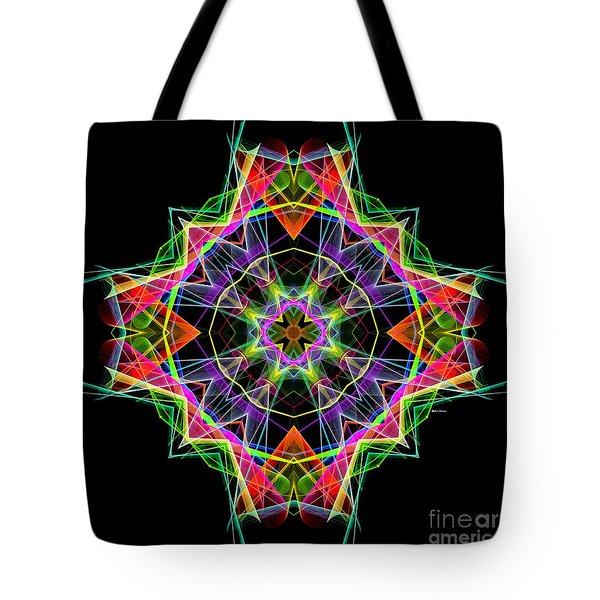 Tote Bag featuring the digital art Mandala 3324a by Rafael Salazar