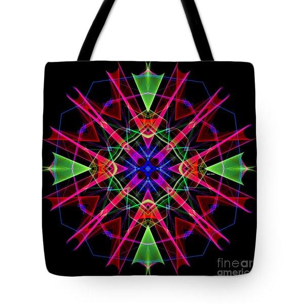 Tote Bag featuring the digital art Mandala 3351 by Rafael Salazar