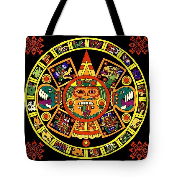 Mandala Azteca Tote Bag