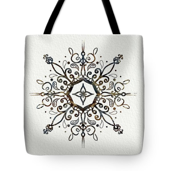 Mandala Earth And Water Tote Bag