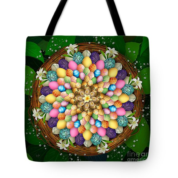 Mandala Easter Eggs Tote Bag