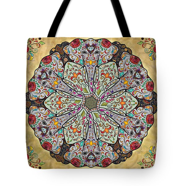 Mandala Elephants Sp Tote Bag