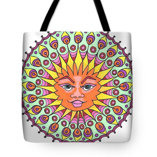 Peacock Sunburst Tote Bag