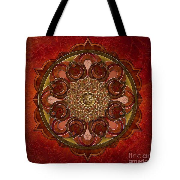 Mandala Flames Tote Bag