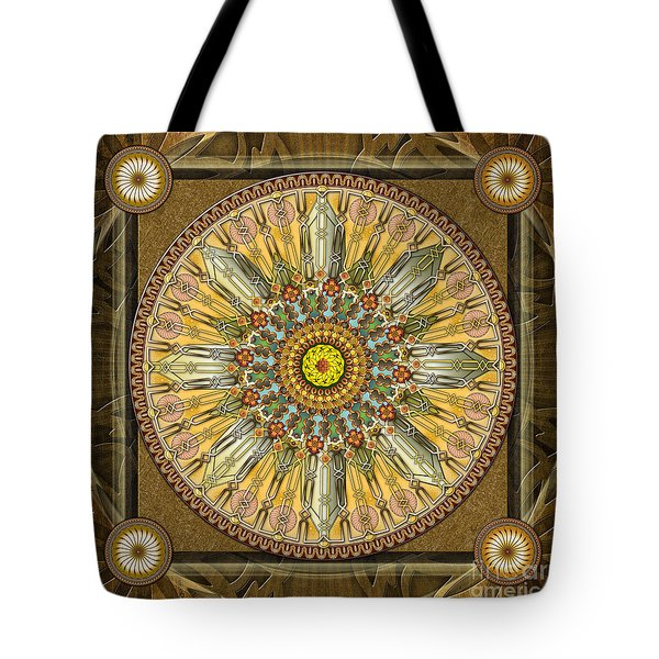 Mandala Illumination V1 Tote Bag by Bedros Awak