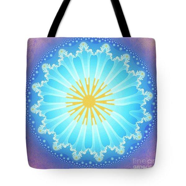 Tote Bag featuring the digital art Mandala by Jutta Maria Pusl
