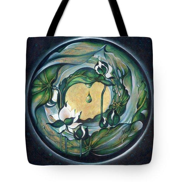 Tote Bag featuring the painting Mandala Of Regeneration by Anna Ewa Miarczynska
