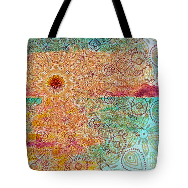 Mandala Sets Over The Dunes Tote Bag