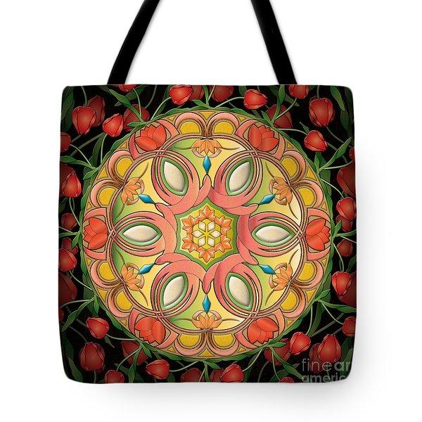 Mandala Tulipa Tote Bag by Bedros Awak