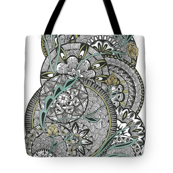 Mandalas With Gold Flowers Tote Bag