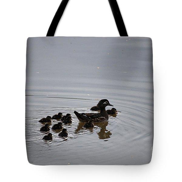 Mandarin Duck And Babes 20130508_227 Tote Bag by Tina Hopkins