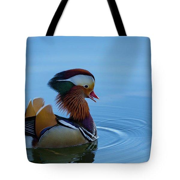 Majestic Mandarin Duck Tote Bag