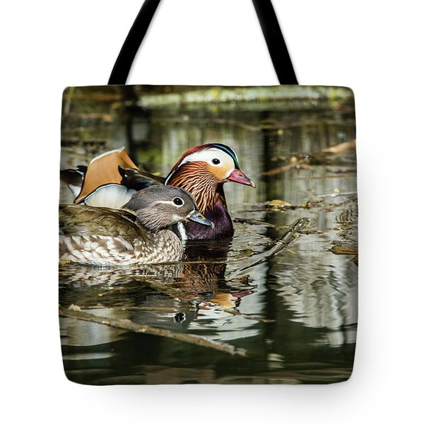 Mandarin Ducks The Couple Tote Bag by Torbjorn Swenelius